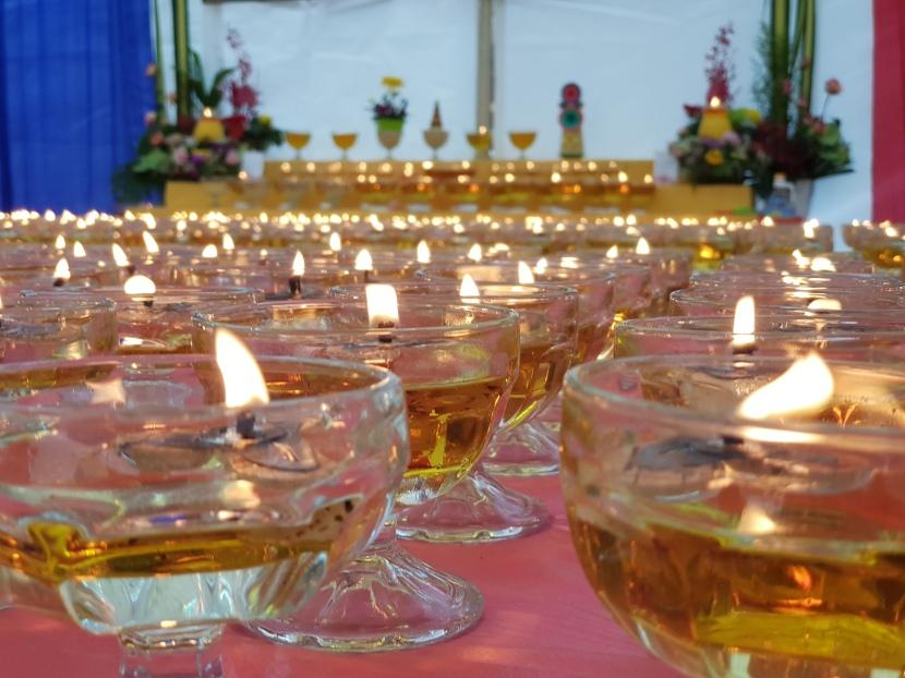 Special buddha bathingritual